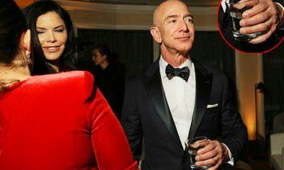 Bezos sánh bước cùng Sanchez tại tiệc lễ trao giải Quả cầu vàng 2019. Ảnh: New York Times.