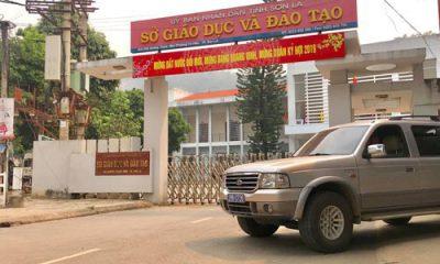 Trụ sở Sở GD-ĐT tỉnh Sơn La, nơi có nhiều cán bộ bị khởi tố liên quan đến vụ gian lận điểm thi THPT quốc gia năm 2018 - Ảnh: Nguyễn Hưởng