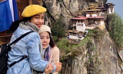 Ốc Thanh Vân rơi nước mắt vì hạnh phúc khi leo lên tới đỉnh Tiger's Nest.